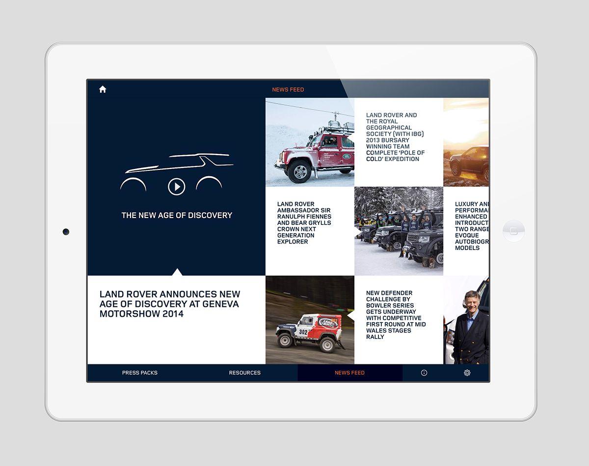 Land Rover Media Hub - iPad App on Behance
