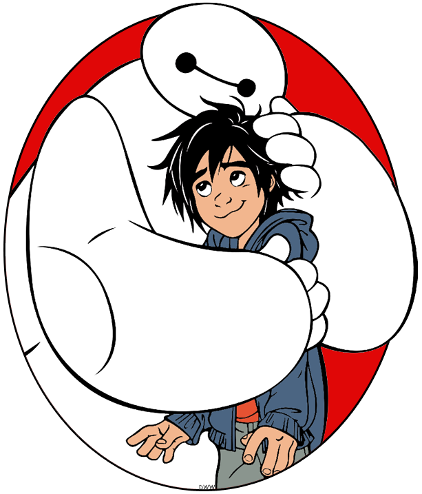 Clip Art Of Baymax Hugging Hiro From Big Hero 6 Bighero6 Baymax Hiro Coloringpages Kid Movies Disney Big Hero 6 Big Hero