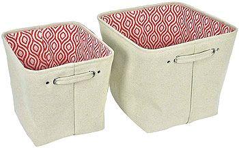 4 Piece Koala Baby Folding Fabric Storage Bins W/ Coral Lining $16 Free  Shipping