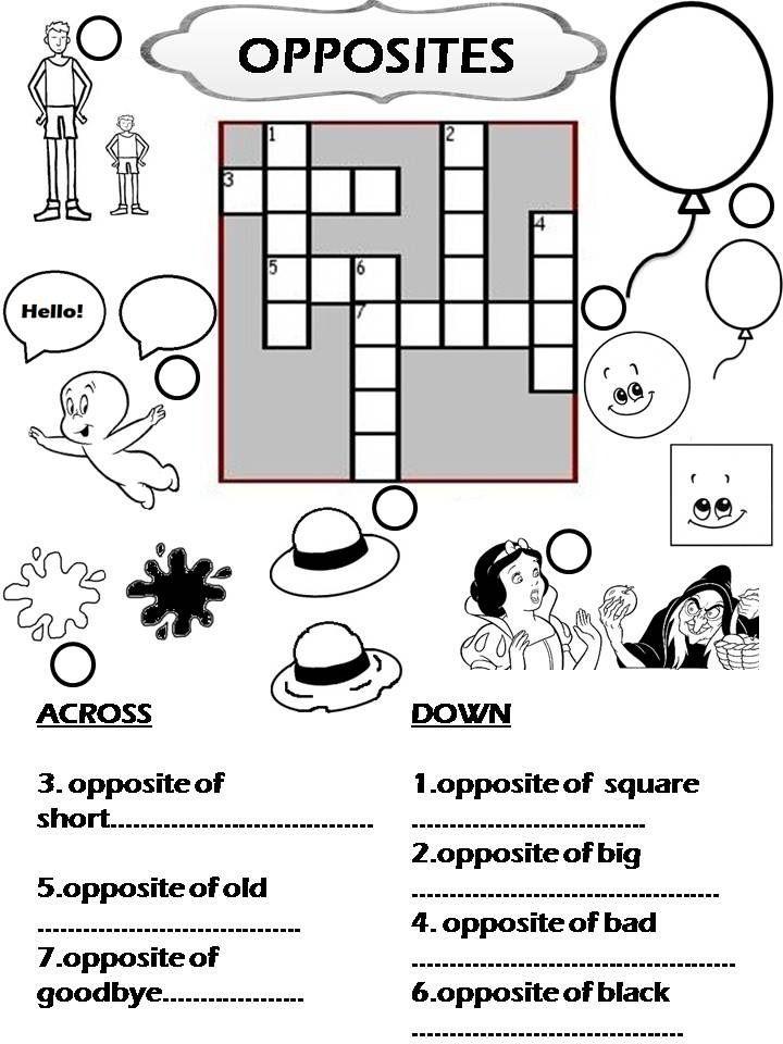 Fichas imprimibles para trabajar vocabulario en inglés