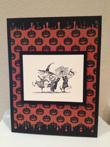 Nightmare Before Christmas Lock Shock Barrel Handmade Greeting Card Halloween   eBay