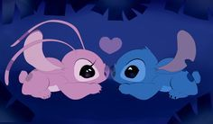 Stitch and his girlfriend