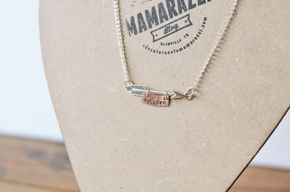 Arrow Necklace with Personalization by MamarazziShop on Etsy https://www.etsy.com/listing/220620096/arrow-necklace-with-personalization