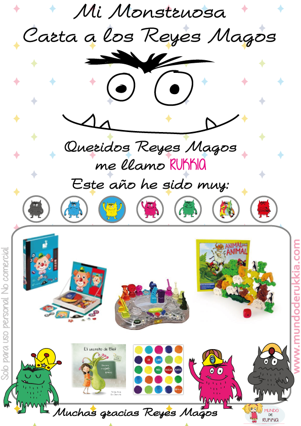 Carta Reyes Magos del Monstruo de Colores | Magos, Rey y Juegos ...