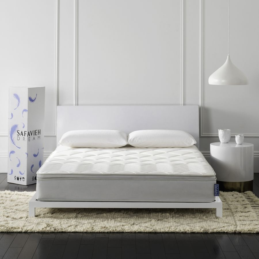 Sleep Master 8 Inch Tight Top Deluxe Individual Pocketed Spring Mattress Queen Mattress Mattress Adjustable Bed Frame