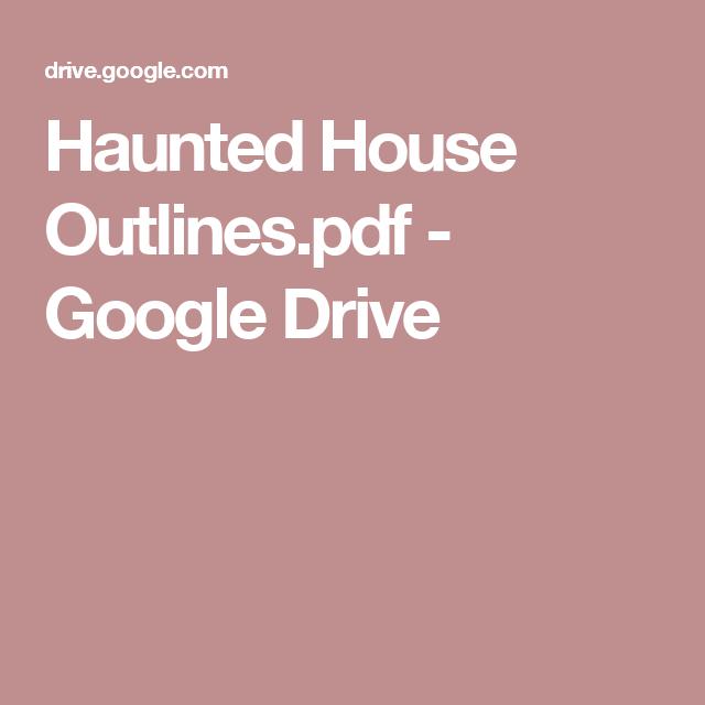 Haunted House Outlines pdf - Google Drive | art ideas