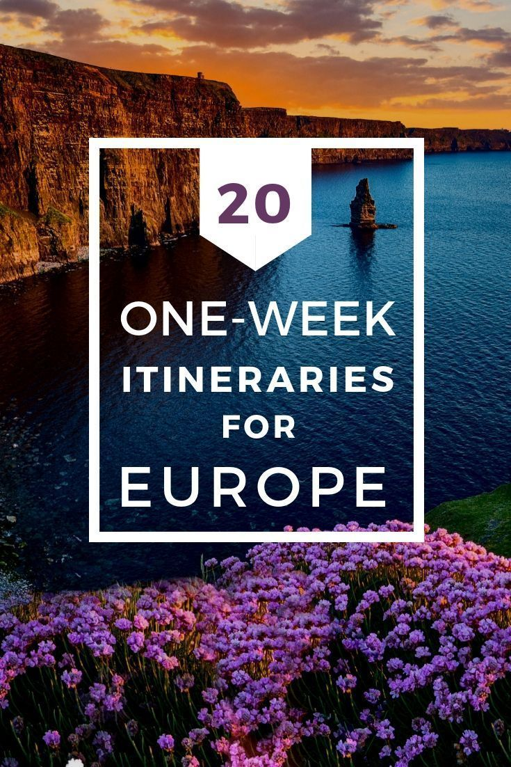 Dreamy European Itineraries for One Week Wondering where to spend one week in Europe? These 20 ideas for your Europe trip will help you decide how to maximize your time and enjoy as many destinations as possible.Wondering where to spend one week in Europe? These 20 ideas for your Europe trip will help you decide how to maximize your time a...