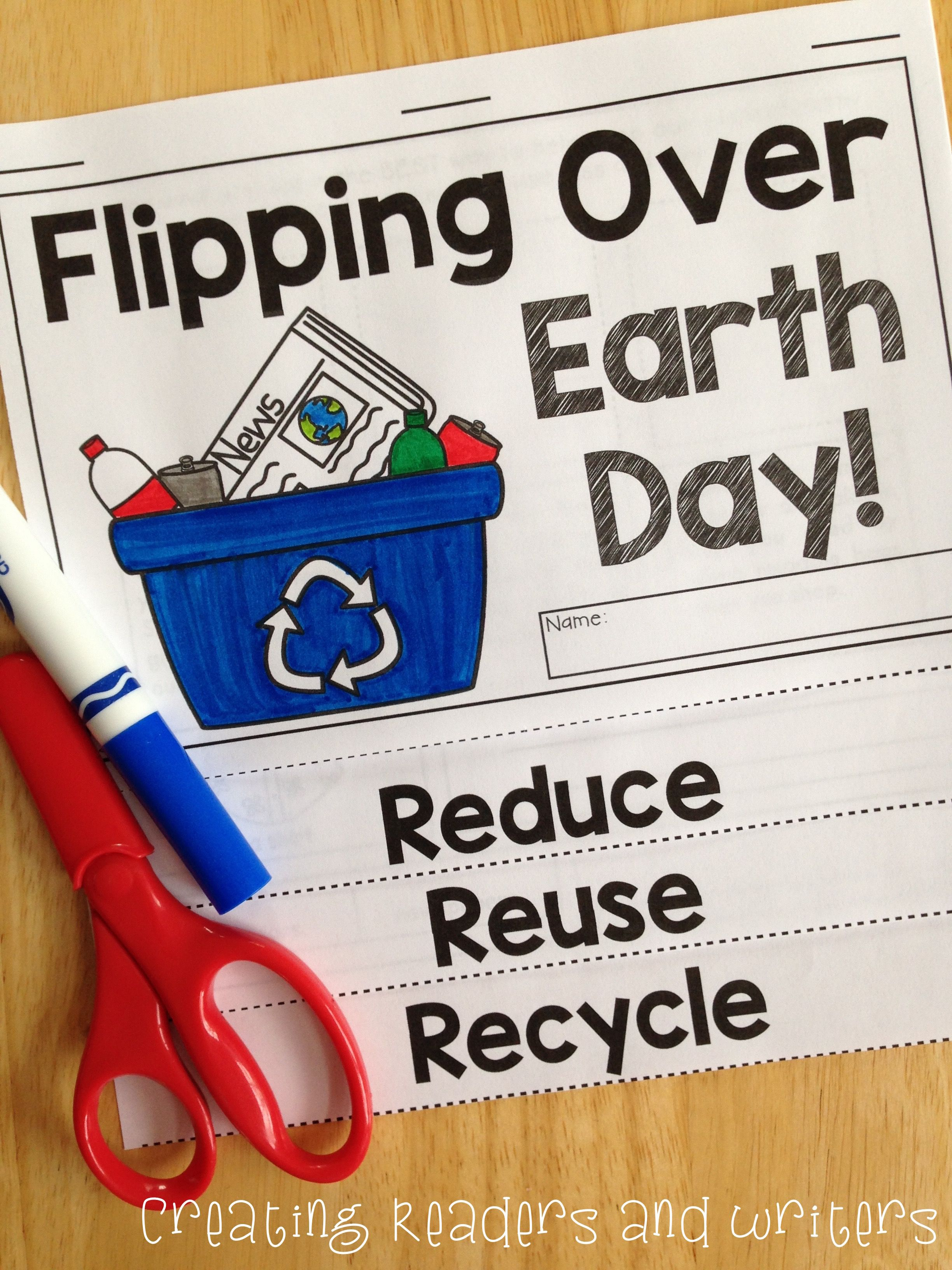 Flipping Over Earth Day Two Differentiated Flip Books For K 3