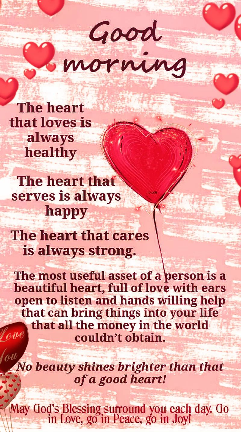 A Heart That Loves , Serves, and Cares Is Always Healthy