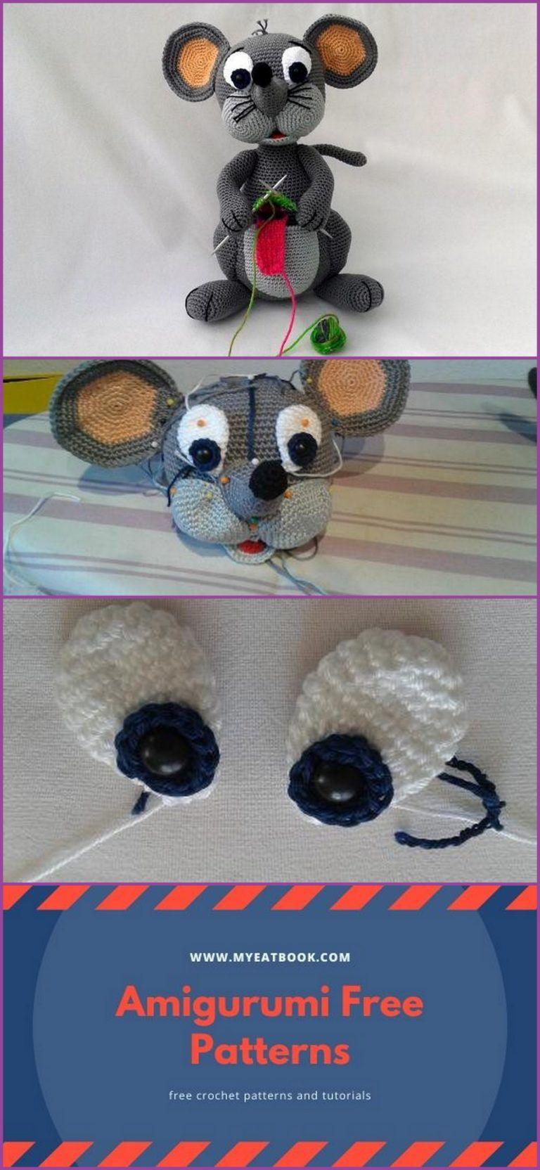 Free Amigurumi Mouse Pattern | Rato de crochê, Bichinhos de croche ... | 1664x768