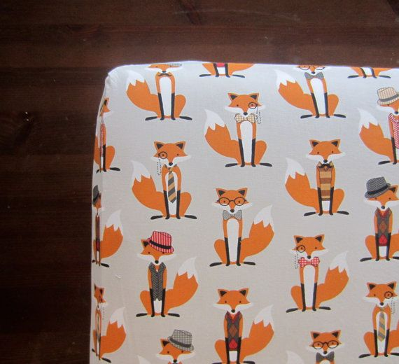 What does the FOX Say Crib Sheet - Fox Crib Sheet / Nursery Bedding /  Changing Pad Cover / Baby Sheet by Babiease - What Does The FOX Say Crib Sheet - Fox Crib Sheet / Nursery