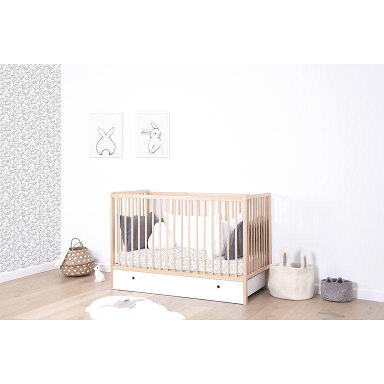 KinderzimmerPoster 'Hallo Hase' schwarz/weiß 30x40cm in