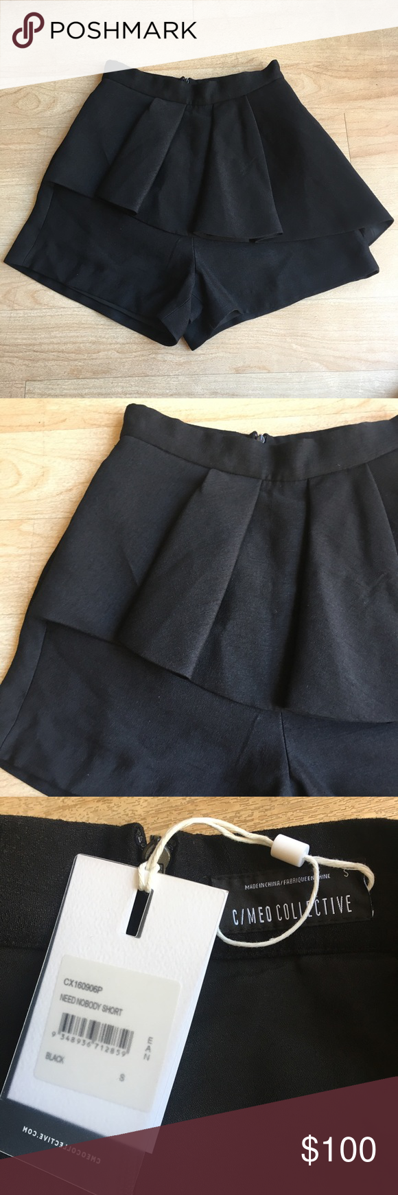 Nwt cmeo collective need nobody shorts small nwt high rise shorts