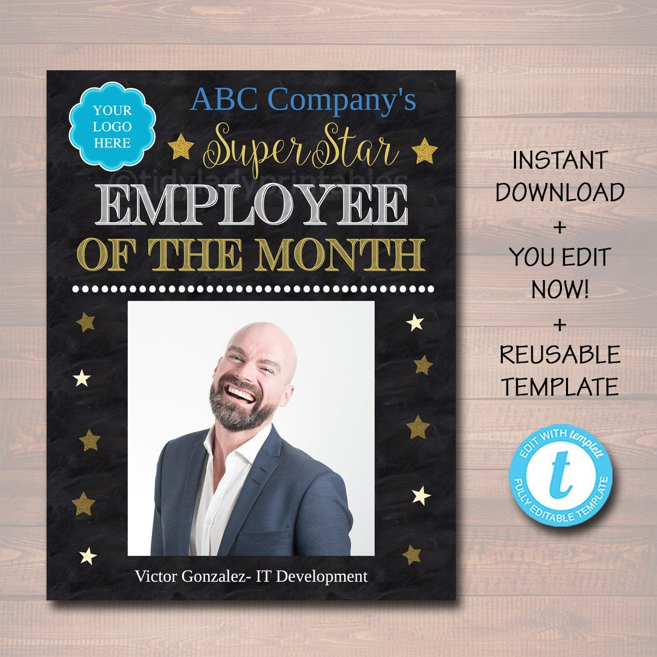 Employee Of The Month Printable Office Printable Boss Manager