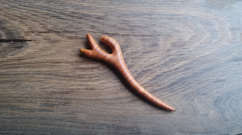 Apricot Wood Hair Stick