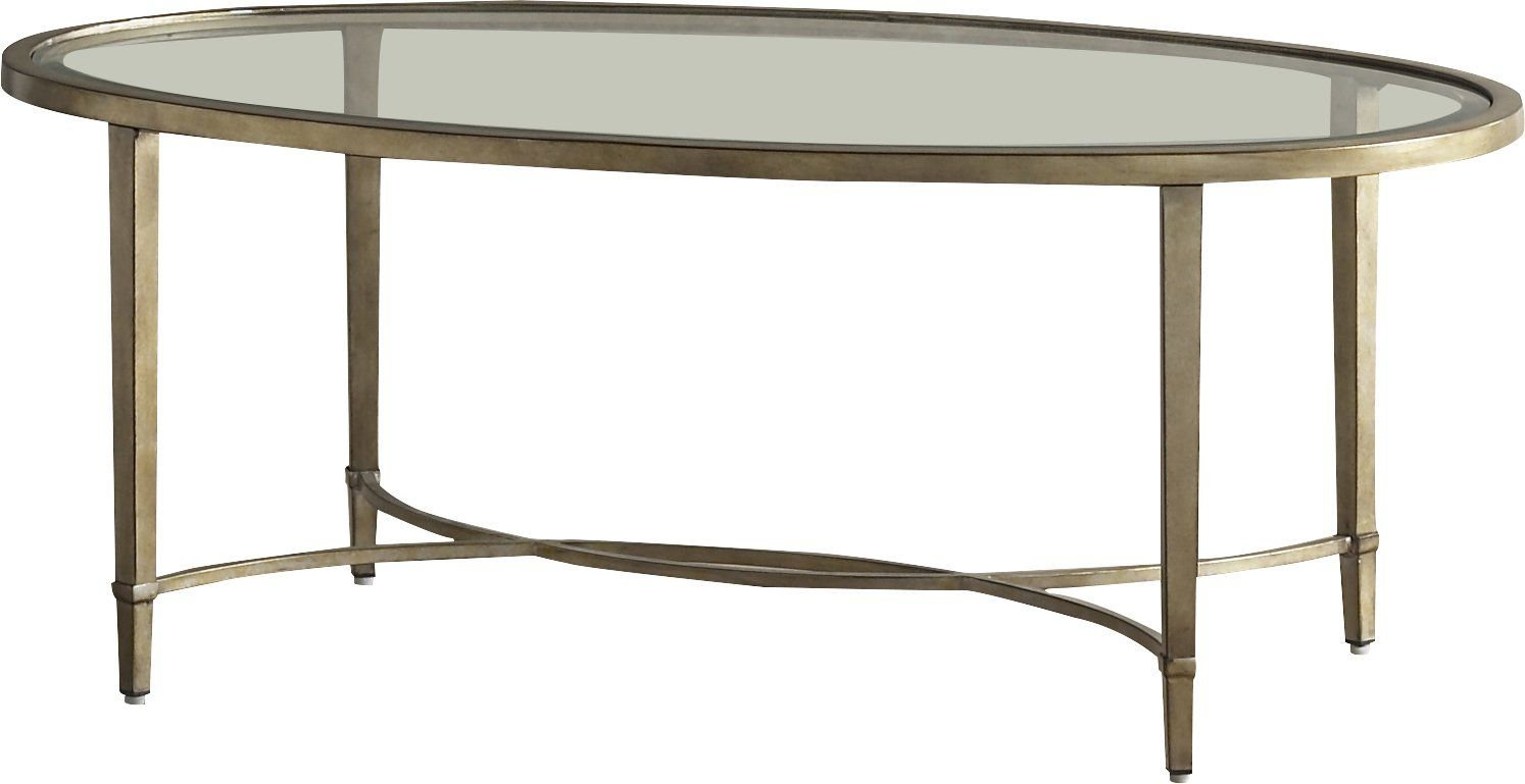 290 19h X 50w X 30d Raina Coffee Table Featuring A Brushed Antique Silver Finish And Beveled Glass Top Coffee Table Oval Coffee Tables Stylish Coffee Table [ 769 x 1494 Pixel ]