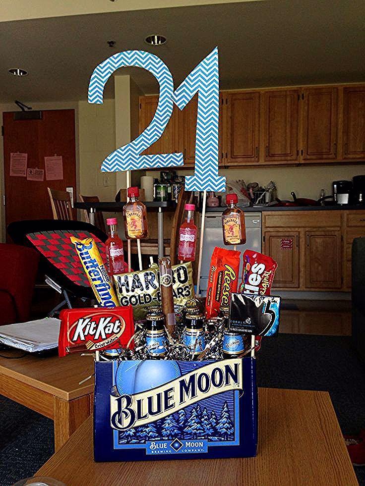 21st birthday basket for girls.20 Of the Best Ideas for 21st Birthday Gift Ideas...