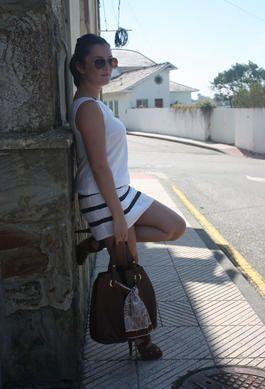 Vestido Marinero - Navy style - Navy Dress - Carolina Herrera Bag - Street style spring summer