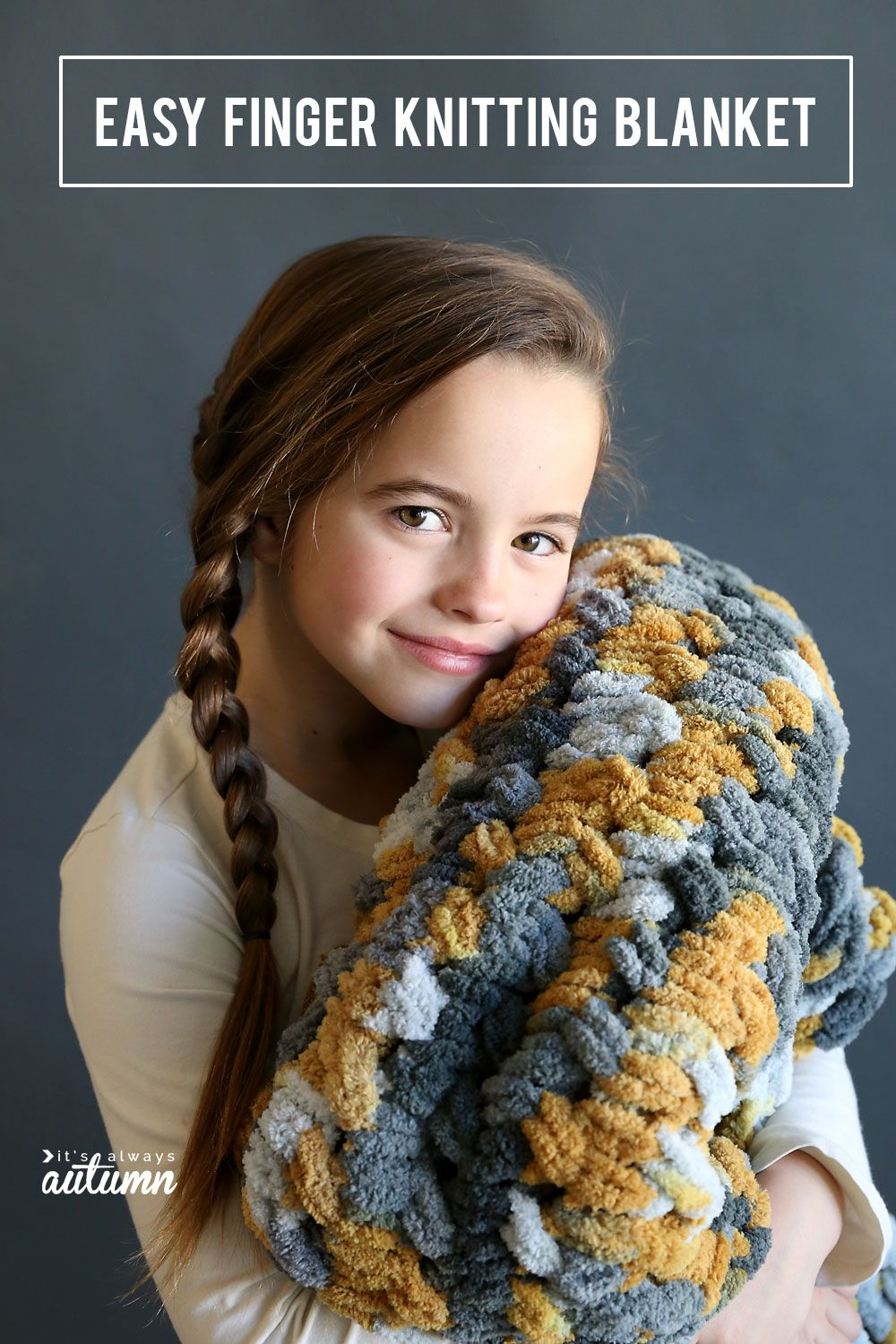 Make A Gorgeous Cable Knit Blanket With Looping Yarn It S