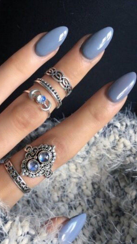💅 101 Trending Nail Art Ideas   Nail inspo, Winter nails and Sns nails