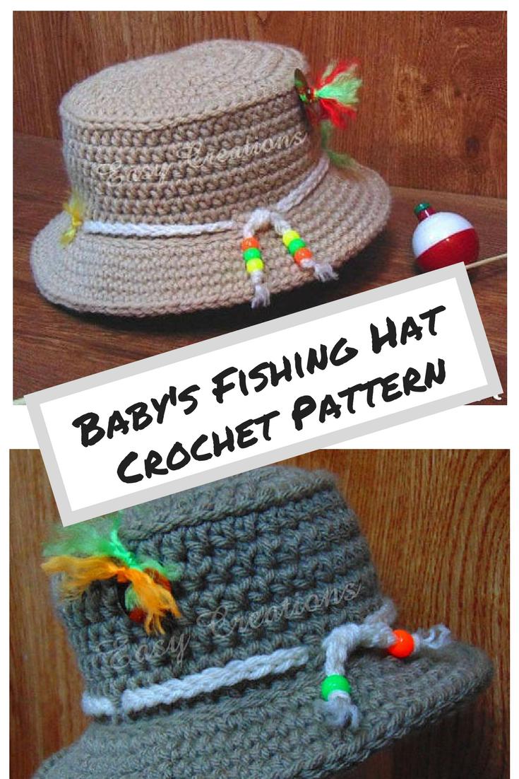 b46f5d1d CROCHET PATTERN Baby Fishing Hat Bucket boy boys girl girls sun hat. Sizes  Newborn to 6 months. #ad