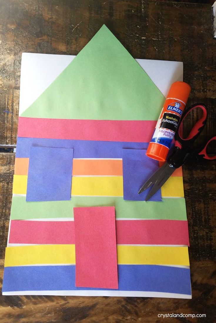 Construction paper house craft for preschoolers homeschooling construction paper house craft for preschoolers jeuxipadfo Image collections