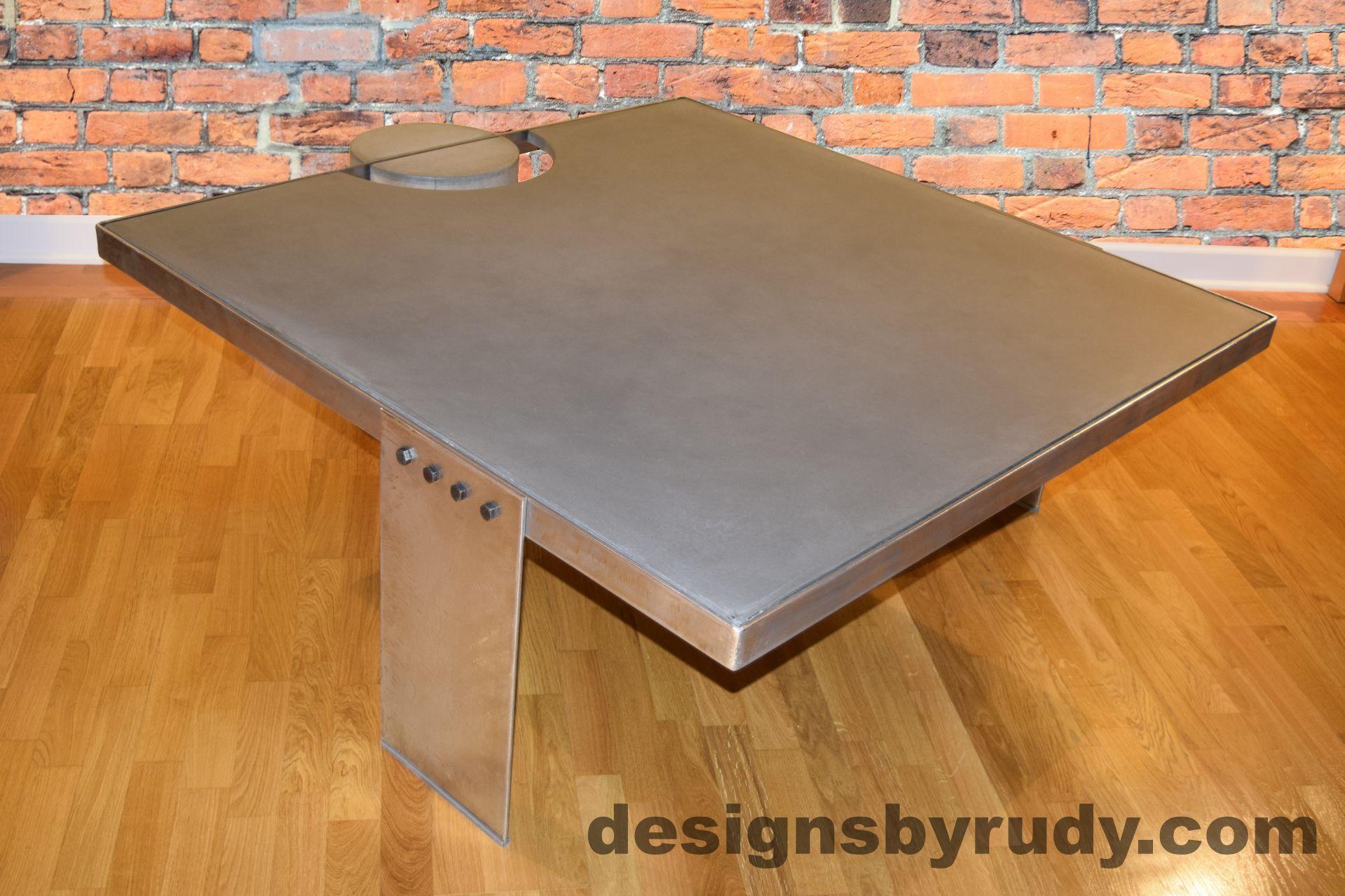 gray concrete coffee table polished steel frame dr30 concrete rh pinterest ca