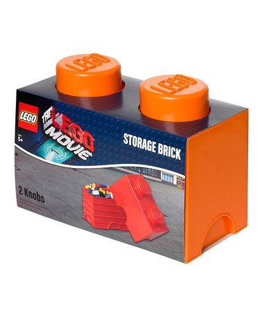 This Bright Orange LEGO Movie 1 X 2 Storage Brick By LEGO Is Perfect! #