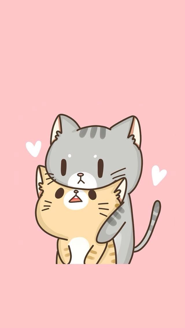 cute cartoon Love Wallpaper For Iphone : Pin by Lauren Winslow on Animals Pinterest Kawaii, Wallpaper and cat