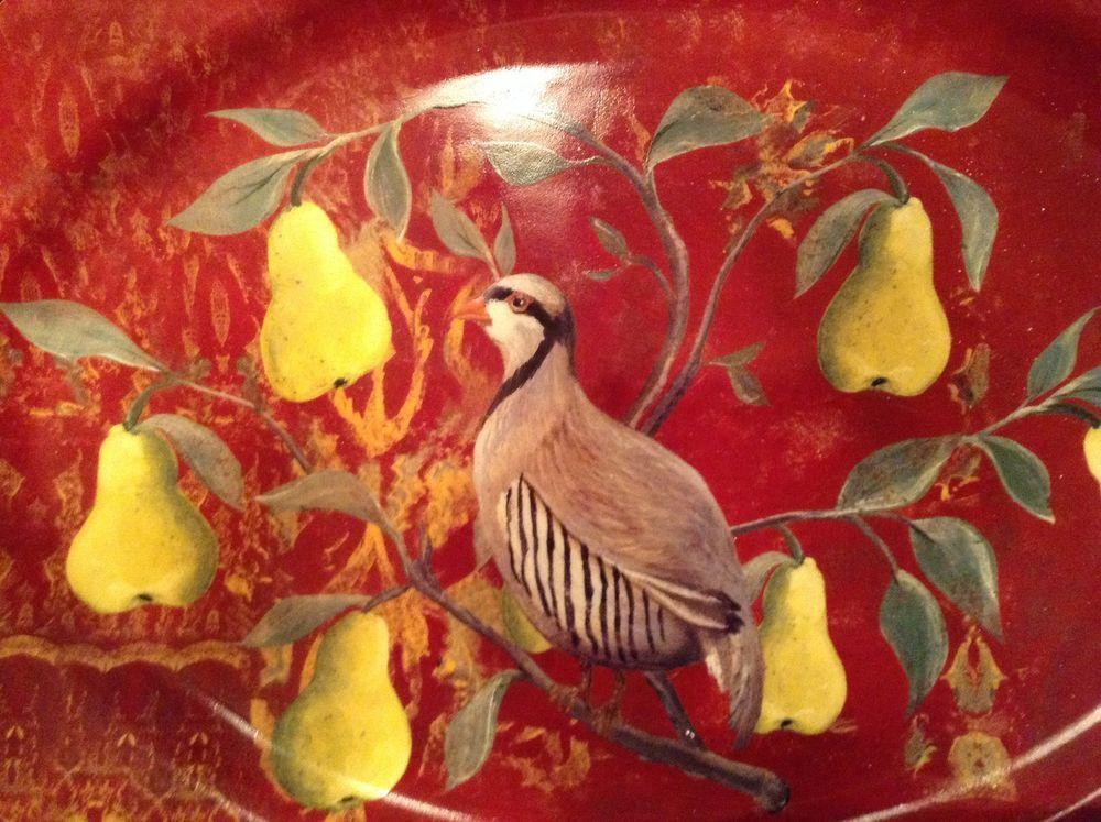 Lovely Kate McRostie Partridge in a Pear Tree serving platter #CreativeCoop & Lovely Kate McRostie Partridge in a Pear Tree serving platter ...