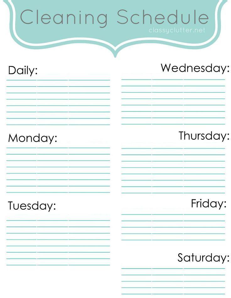 weekly schedules