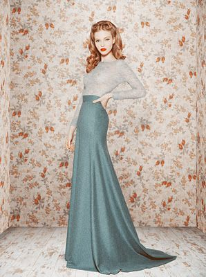 Lovely collection by Ulyana Sergeenko.   Long skirt