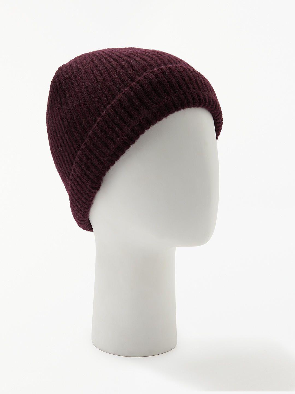 5cd56d1bcb028 BuyJohn Lewis   Partners Italian Cashmere Ribbed Beanie Hat