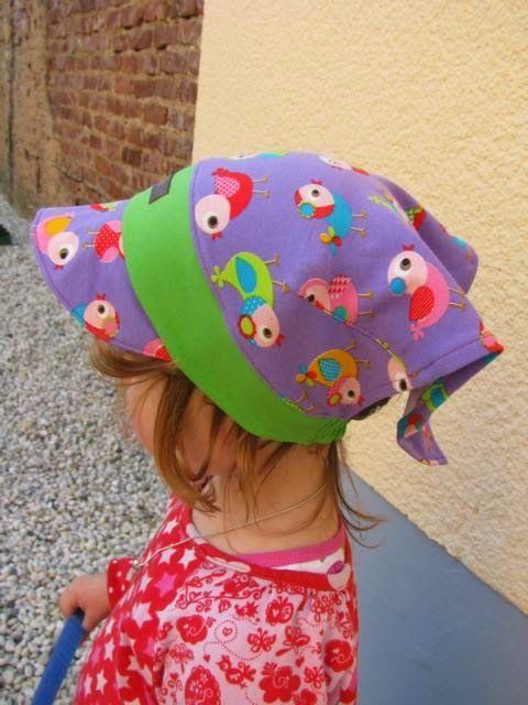 ElAdo ! Alles rund um\'s Nähen !: Kopftuchmütze Tina zum Binden aus ...