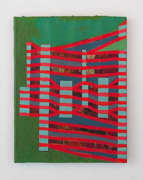 Steve Roden third view, 2013 Oil on linen 14 X 11 inches