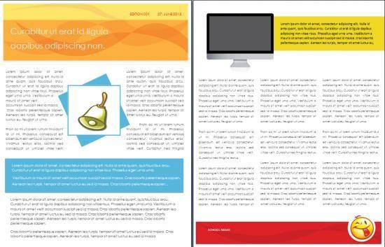 School TemplatesSchool Newsletter Template  Freshman Orientation