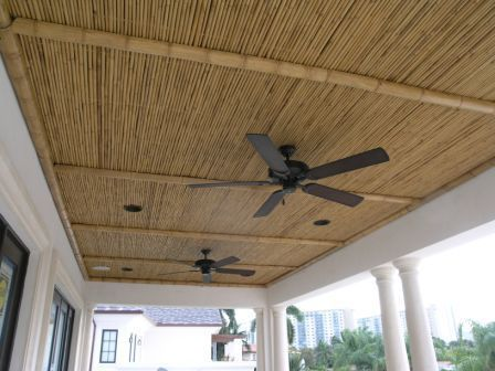 Bamboo Porch Ceiling With Images Bamboo Ceiling Patio Ceiling