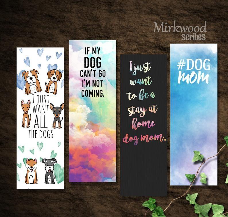 Dog Mom Bookmarks Dog Lover Bookmarks Instant Download