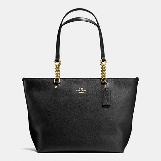 MSRP $260 Got for $117 from Saks off 5th.  Coach Sophia Tote in Pebble Leather  Current version is $295, I got v1 where the only difference is two fewer links in the handle (which suits me better).  Fab deal either way.