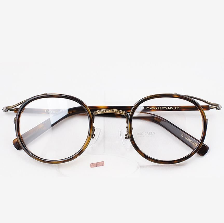 562b61ded69 Hand Made Vintage Eyeglasses Women Men Glasses Round Eyewear Fashion  Spectacles