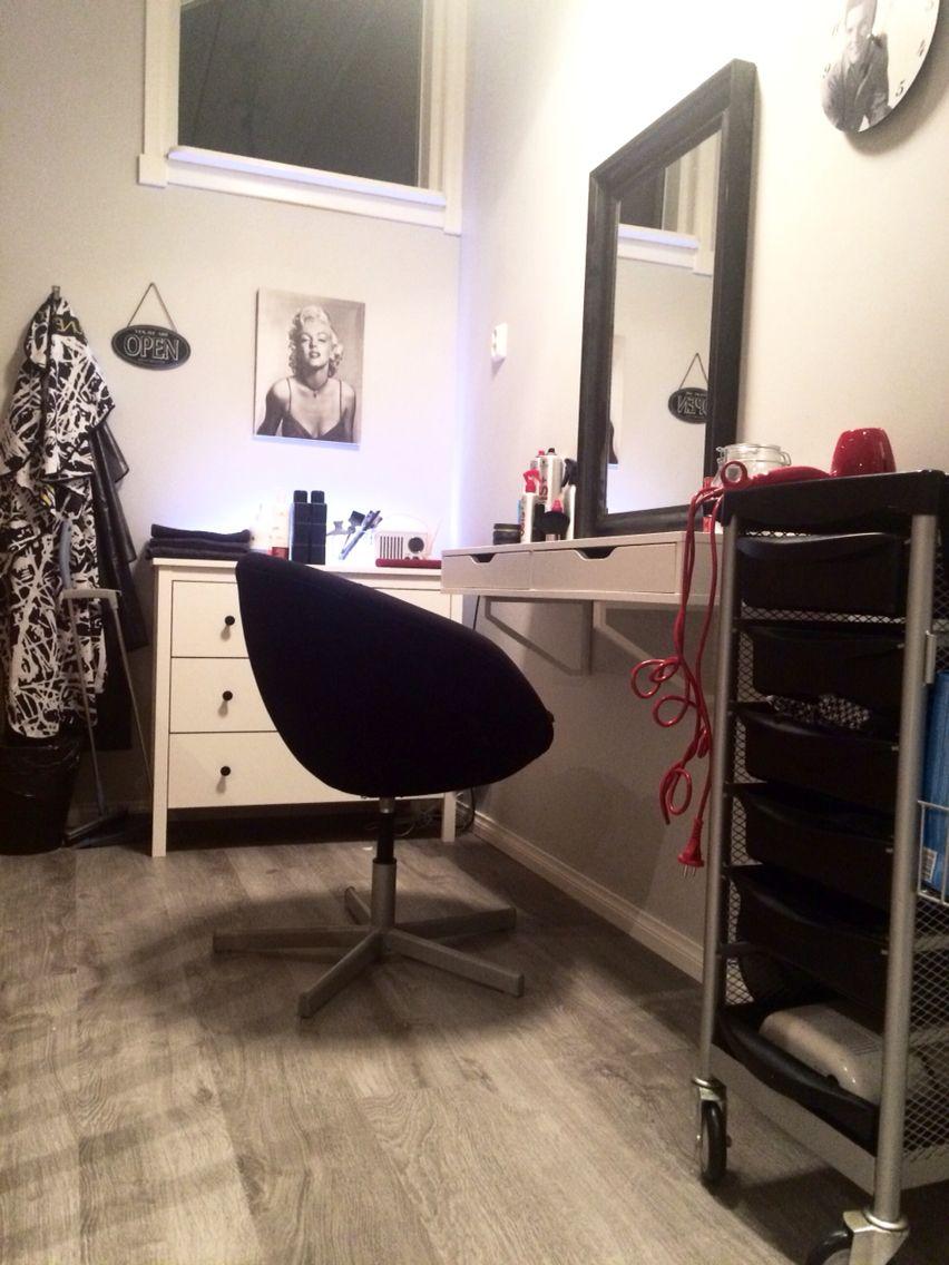 Hair salon at home ikea hack make up corner pinterest - Ikea ideas salon ...