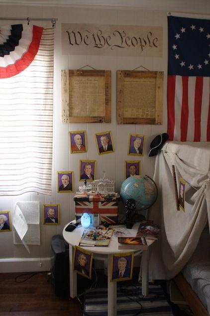 american history themed bedroom