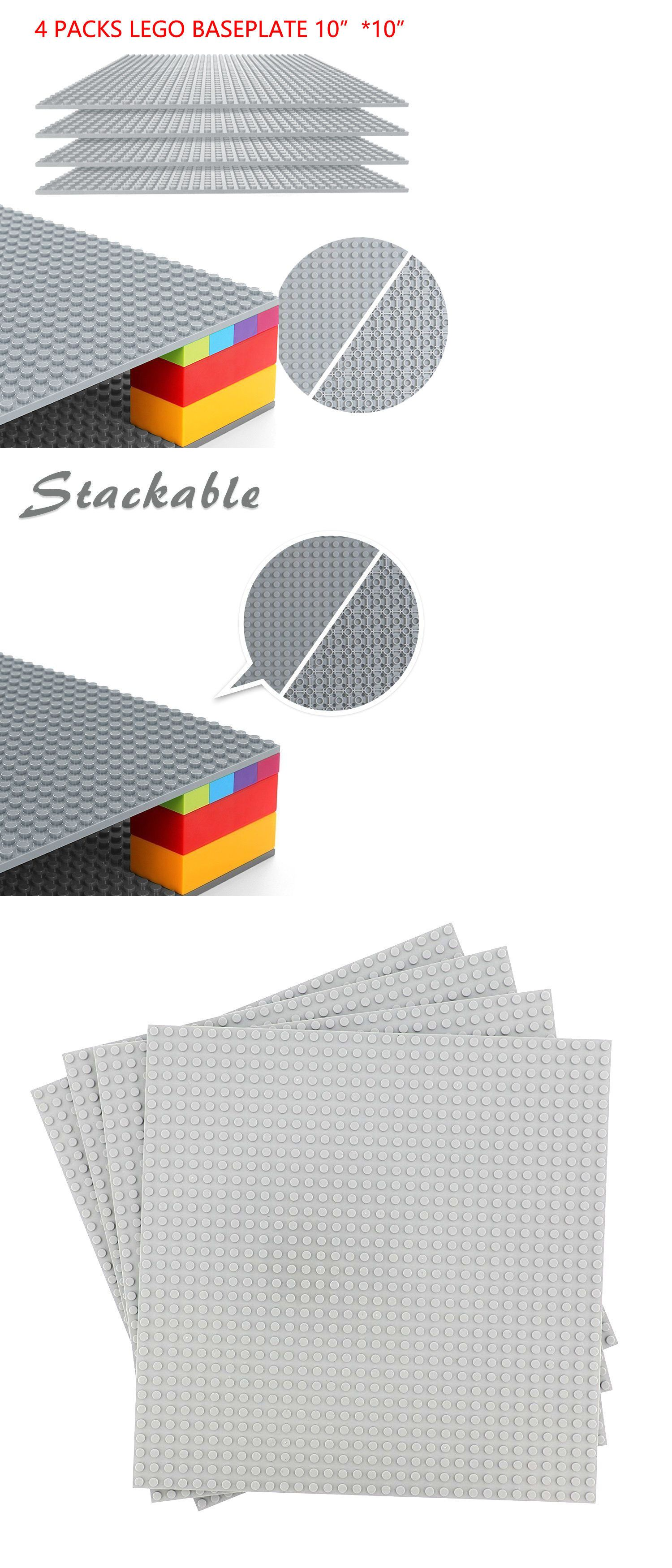 """4 Grey 10/"""" x 10/"""" or 32 x 32 compatible base plates"""
