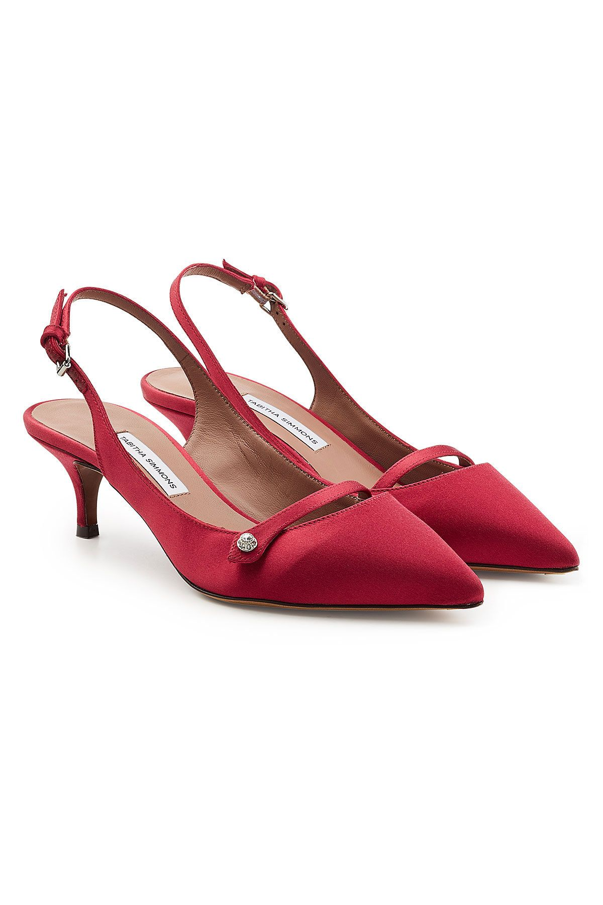 956061191aca TABITHA SIMMONS LAYTON SLING-BACK SATIN PUMPS.  tabithasimmons  shoes