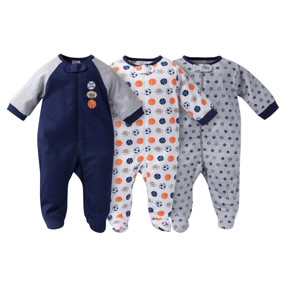Gerber Baby Sleep N  Play Footed Sleepers - Sports Navy 42435 M ... 493b9a720