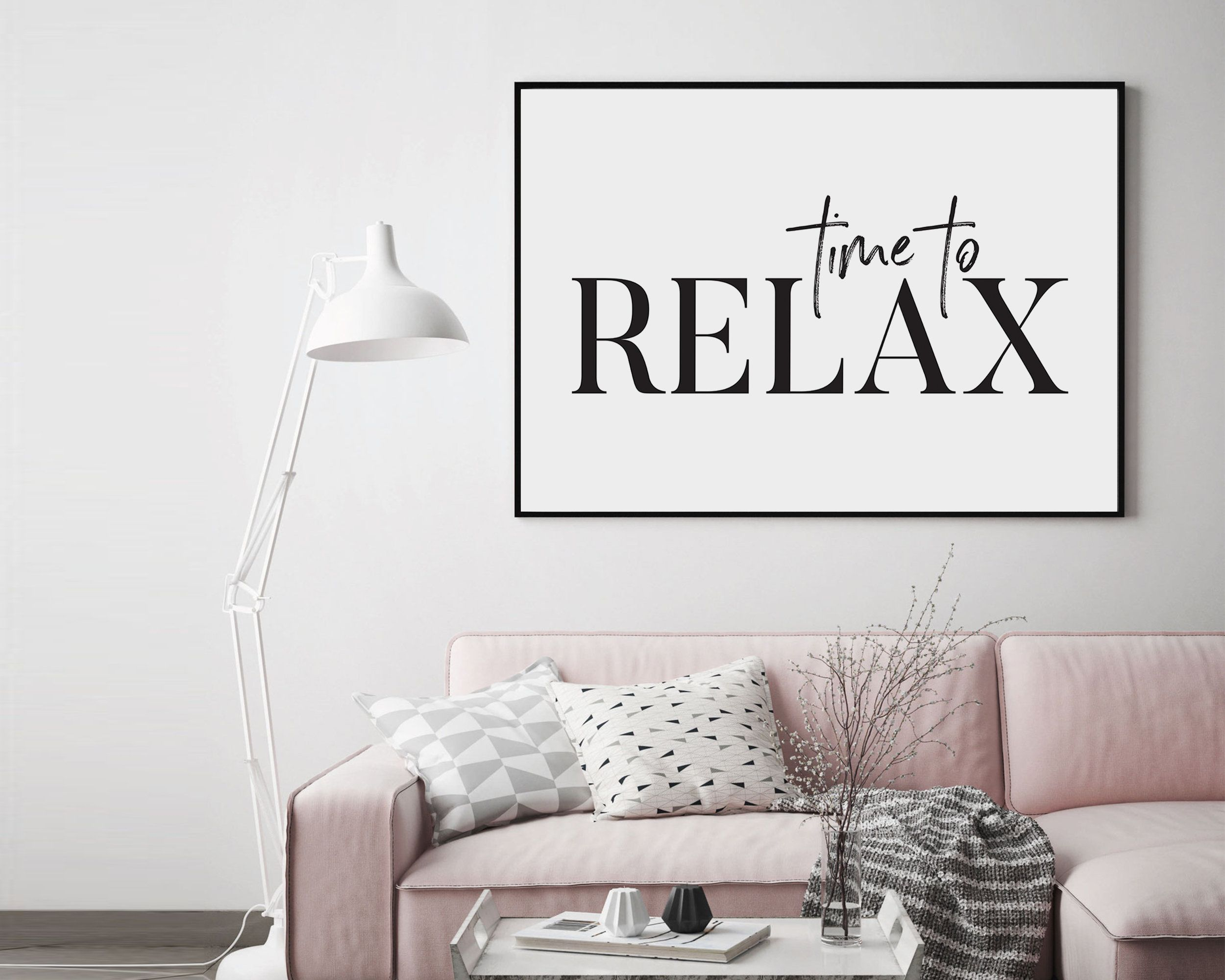 Time To Relax Wall Art Time To Relax Print Printable Time To