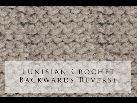 Tunisian Crochet Backwards Reverse Stitch