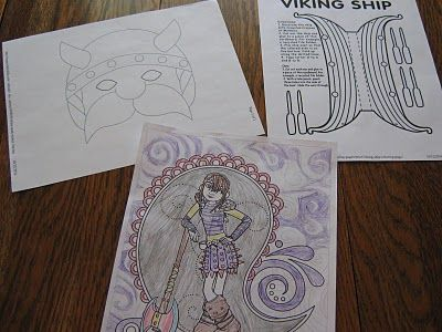 Coloring Pages How To Train Your Dragon : Viking mask ship and how to train your dragon coloring pages links