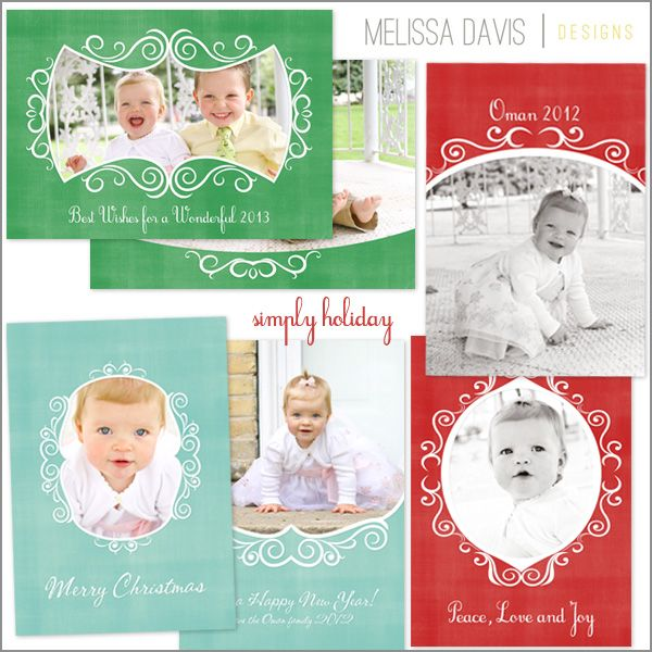 Simply Holiday Set Christmas Card Template Available Through Jen Boutet Photography With Your Portrait Session In Charlottesville Va Www Jenboutet Com