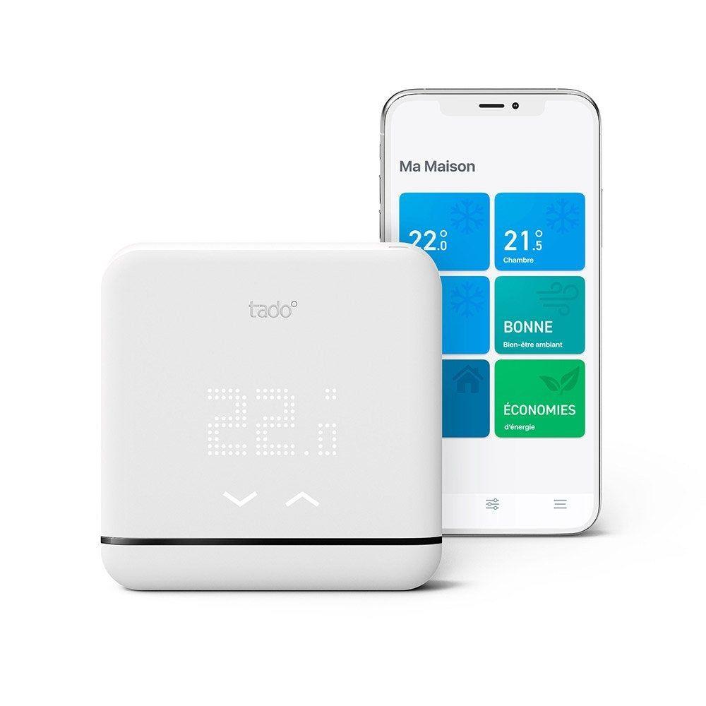 Thermostat Connecte Pour Climatisation Et Pompe A Chaleur Sans Fil Tado V3 Pompe A Chaleur Domotique Et Camera De Securite